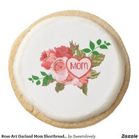 Rose Art Garland Mom Shortbread Cookie