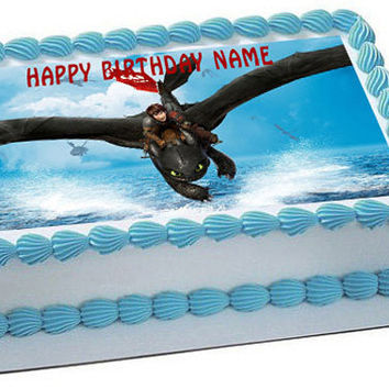 How To Train Your Dragon 1 Edible Birthday Cake Topper OR Cupcake Topper, Decor