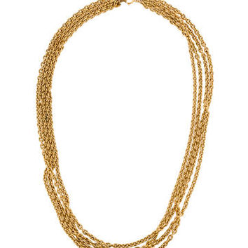 Chanel Vintage Multi Chain Necklace