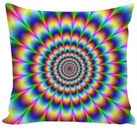 Abstract Optical Illusion - Custom Couch Pillow