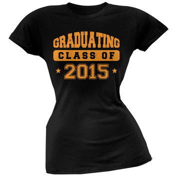 Graduating Class of 2015 Black Juniors Soft T-Shirt