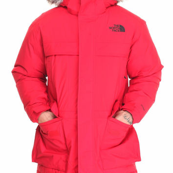 NEW THE NORTH FACE MEN'S MCMURDO PARKA II 550-FILL GOOSE DOWN LARGE TFN RED