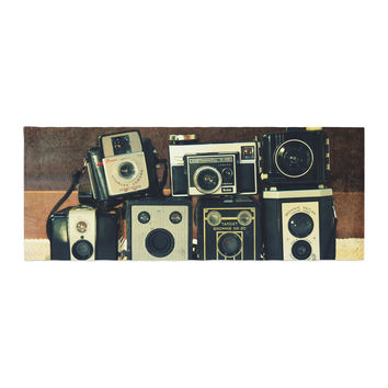 "Robin Dickinson ""Through the Years"" Vintage Camera Bed Runner"