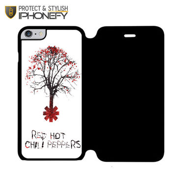 Tree Of Red Hot Chili Peppers iPhone 6 Plus Flip Case|iPhonefy