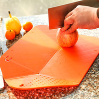 Multi functional Folding Draining Cutting Board - Plastic Fruit Vegetable Chopping Block