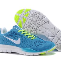 Nike Free 5.0 (Sky Blue/Lime Green)