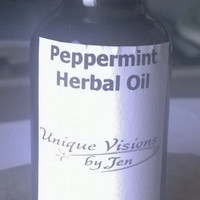 Peppermint Herbal Oil, 1 fluid ounce, For migraines, aches and pains, stuffy nose, nausea, natural herbs, unique visions by Jen