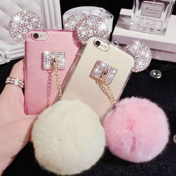 Mickey Mouse Ear Fur Phone Case
