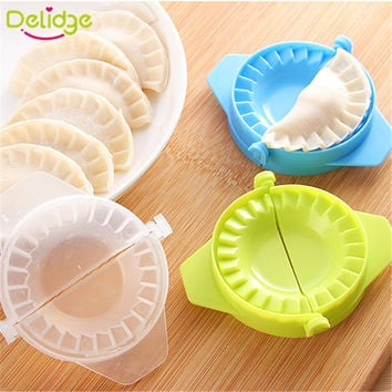 Delidge 1PC Dumpling Maker Molds Food-Grade Plastic Pack 7.5cm Dough Press Dumpling Pie Ravioli Mould  Pastry Dumpling Molds
