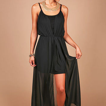 Sheer Slit Maxi Dress | Maxi Dresses at Pinkice.com