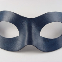 Leather Mask Domino Style Masquerade Ball Superhero Mask Choose Your Color hand dyed