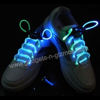 LED Light up Shoelace Flashing Glow In The Dark Blue/Green Free Shipping $4.99  Gadgets-N-Gizmos.com