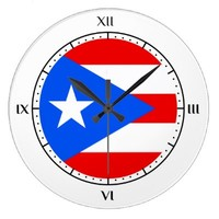 Puerto Rican flag Clocks