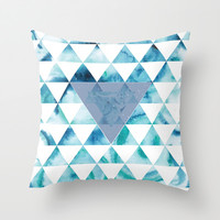 Triangle Sky Throw Pillow by Kate & Co.