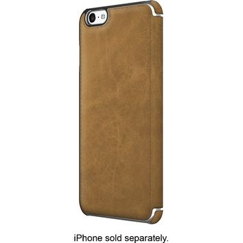 ADOPTED - Saddle Leather Folio Case for Apple® iPhone® 6 Plus - Saddle Brown/Silver