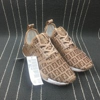 Adidas Boost Fendi x Nmd R1 Women Men Shoes Sneakers