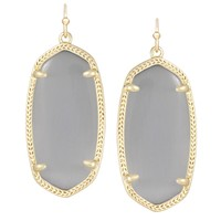 Elle Gold Earrings in Slate - Kendra Scott Jewelry
