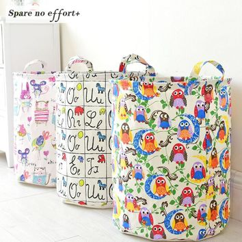 Creative Fabric Multi Print Toy Storage
