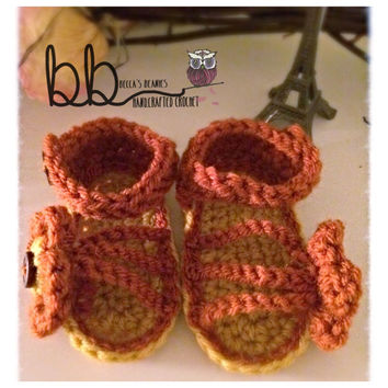 Baby Sandals Crochet - newborn to 12 months - made to order