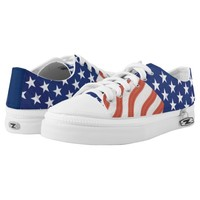American Flag Stars and Stripes Printed Shoes