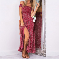 Split Floral Wrap Short Sleeve One Piece Dress