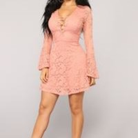 Not Over You Mini Dress - Mauve