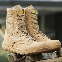Military Lightweight Tactical Boots Breathable Hiking Shoes Men Army Desert Combat Boots Comfortable Shoes Mountain Hunting Boot