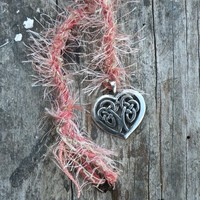 Celtic Heart - a Handmade Pendant Spirit Cord made with Love