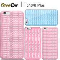 Cute Popular Mobile Phone Shell skin Drake Case for capinhas iPhone 5s 6 6s PLus Hotline bling Cases You used to call me
