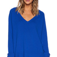 Line Chase V Neck Sweater in Royal