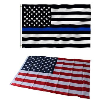 Jumbo 3x5ft 90cmx150cm American Flag United States Stars Stripes Thin Blue Line striped USA US America Polyester National Flags