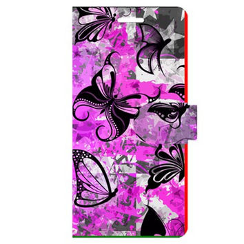 Butterfly Graffiti Apple iPhone 6 Plus Leather Folio Case