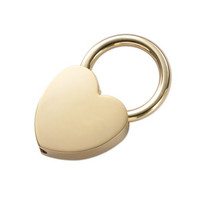 MG Gifts Heart Shape Gold Key Ring