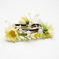 Free People Womens Floral Hair Tie Duo - Blue, One Size