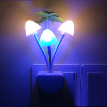 Novelty LED Mushroom Night Light Home Decoration Wall beside Lamp Nightlight for Baby Kid Children Birthday Christmas Gift