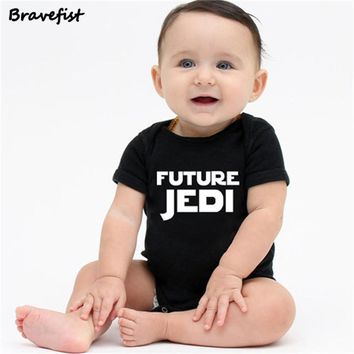 Star Wars Force Episode 1 2 3 4 5 Newborn  Baby Clothes Cotton Romper Playsuit Sunsuit Outfits Infant Boys Girls Summer Rompers Costume 0-24M JEDI Print AT_72_6
