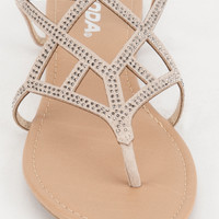 SODA Caged Bling Womens Sandals | Sandals