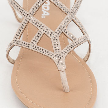 SODA Caged Bling Womens Sandals   Sandals