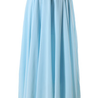 Light Blue Long Maxi Skirt Blue