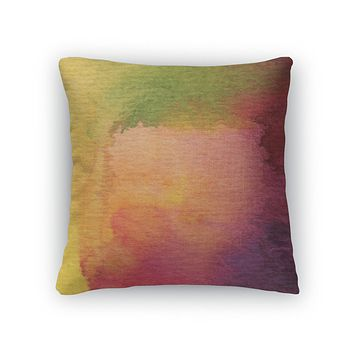 Throw Pillow, Abstract Watercolor Painted
