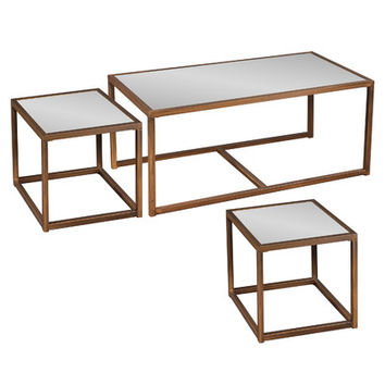 Wildon Home ® Marseille 3 Piece Nesting Coffee Table Set