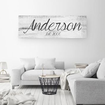 Big Family Name Sign - A Personalized Family Canvas