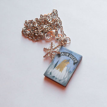 Frozen Necklace, Snow Queen Pendant, Elsa Necklace, Snowflake Necklace, Fairytale Necklace, Snow Queen Necklace, Winter necklace, costume