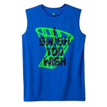 CREY7GX Tek Gear I Swish You Wish Muscle Tee - Boys 8-20 Size