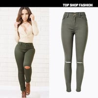 Hot Popular Slim High Waisted Stars Jeans Pants _ 1110