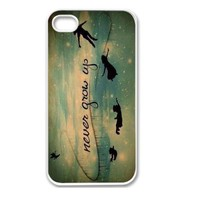 Iphone 5 Case, Thin Flexible Plastic Case Iphone 5 Case Never Grow Up