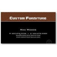 Furniture / Carpenter Business Card Wood Grain from Zazzle.com