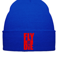 fly or die embroidery hat - Beanie Cuffed Knit Cap