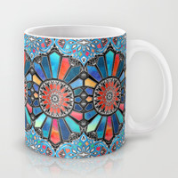 Iridescent Watercolor Brights on Black Mug by Micklyn