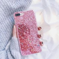 Pink Glitter Sequin iPhone Case
